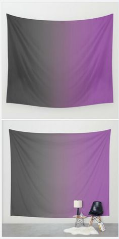 Purple Ombre  - Hanging Tapestry - Wall Tapestry - Gray to Purple Ombre - Large Wall Photograph - Home Decor - Made to Order