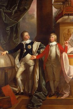 Prince William and Prince Edward of the United Kingdom; by Benjamin West, c. 1778. Sons of King George III of Great Britain.