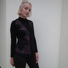 Stylish black ethnic felted vest for a autumn