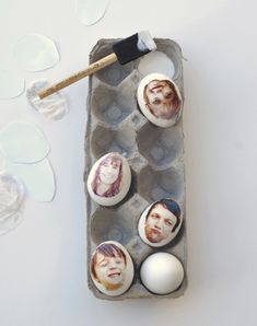 Easter egg with family pictures by A Subtle Revelry | Cool Mom Picks