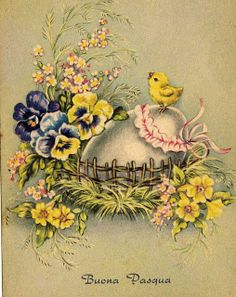 Vintage Easter Card ~ Miss Jane