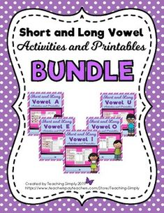 Make the transition from short vowels to long vowels easy with this bundle of activities and printables. Included are picture and word sorting centers, cut and paste word sorts, mazes, and games for each long vowel! Great for differentiation! Learning Centers, Literacy Centers, Art Centers, Vowel Activities, Speech Therapy Activities, Vowel Song, Reading Tutoring, Word Sorts, Short Vowels