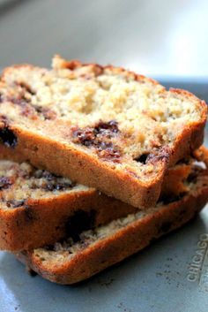 Honey Whole Wheat Chocolate Chip Banana Bread -- I make this all the time and kids never know it's a healthier version of banana bread. Can easily be made into muffins, too! Freezer-friendly!
