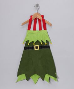 Kids Elf Apron - Design Imports 16'' W x 20'' H     100% cotton Machine wash  | zulily