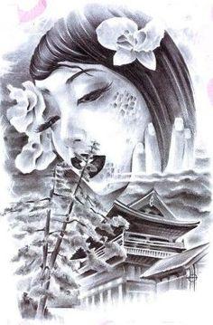tatuagens gueixa desenhos - Pesquisa Google