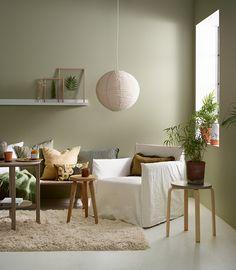 Jotun SENS 8302 Laurbær Home Room Design, Home Interior Design, Natural Home Decor, Paint Colors For Home, Internal Doors, Home And Deco, Wall Colors, Colorful Interiors, Office Decor