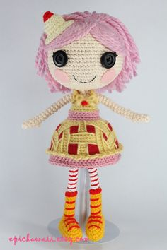 PATTERN Cherry Crochet Amigurumi Doll di epickawaii su Etsy, $6.99