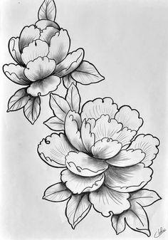 Diseño Flower Drawings, Drawing Flowers, Watercolor Flowers, Watercolor Paintings, Single Rose Tattoos, African Art Paintings, Woman Face, Flower Designs, Design Elements