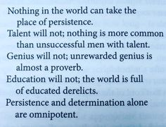 Persistence.