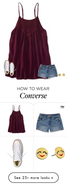 """""""I have a cold"""" by texasgirlfashion on Polyvore featuring Aéropostale, Converse and Kate Spade"""