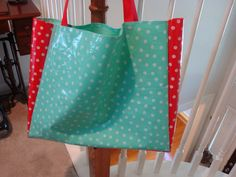 Oil Cloth Tote Bag sewn by my 11yr. old student