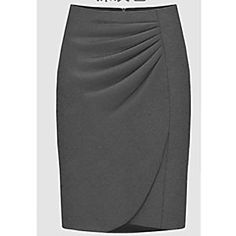 J&J Women's Solid Color Red / Black / Gray Skirts , Casual / Work Mid Rise MiniPlus Size