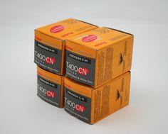 Kodak Professional Film, T400 CN, T-Max Black and White Film, Process C-41, expired 35mm film, 4 rolls, 120 exposures. via Etsy.