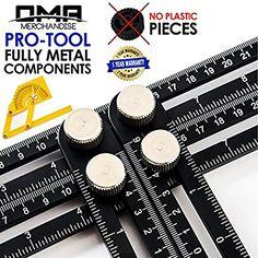 Universal Multi-Angle Measuring Ruler - ANY-ANGLE Template Tool Set - Upgraded Professional Aluminum Alloy Multi-Angle Template Tool - FULL-METAL Angularizer - Multi Functional Angle Ruler - (Black) - - Amazon.com