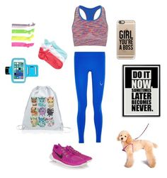 """Workout"" by mimicat200 ❤ liked on Polyvore featuring Glam Bands, NIKE, Sweaty Betty, Lucas Hugh and Casetify"