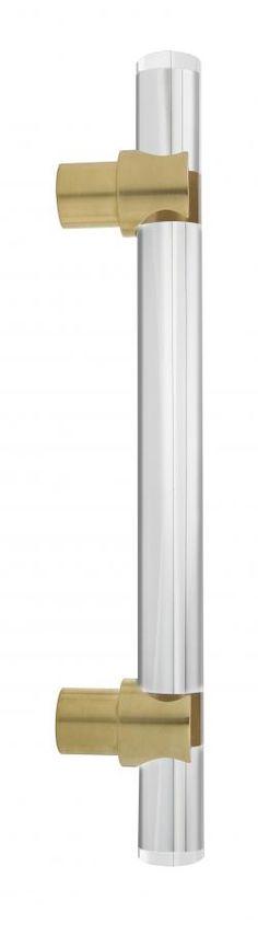 Arctic 1 Acrylic Door Pull Handle Glass Door Shower Door Wood Door Brass bracket