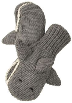 Menagerie Mittens in Smiley Shark