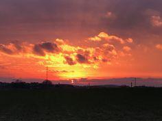 Sunset over the Battle fields