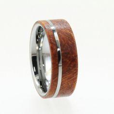wooden wedding rings titanium ring titanium wedding rings eco friendly rings mens ring womens rings wood rings miracles happen miracles happen - Wood Wedding Rings For Men