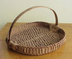 Baskets, note: of all the baskets I have acquired over the years THIS gathering tray basket is my favorite one. B