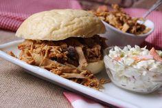 Grandma's North Carolina Pork Barbecue #pulled pork #justapinchrecipes