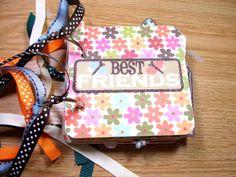 Best Friends Premade Mini Scrapbook Album by HampshireRose on Etsy, $30.00