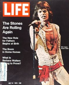 Mick Jagger on the cover ofLifemagazine, July 1972.