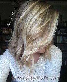 Soft look, icy blonde highlights #balayage
