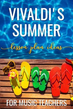 Lesson ideas for movement and music vocabulary using Vivaldi's Summer. Plus free resources that would work with subs too! Great for any elementary music classroom.