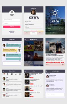 Webgrafika mobil felülethez, flat stílusban