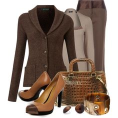 Brown Work Outfit :)