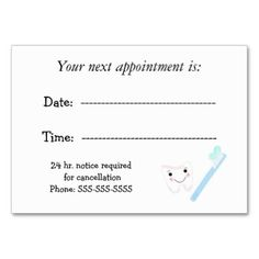 Appointment Cards – Keep Your Clients Coming Back To You
