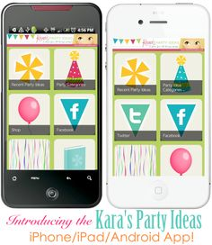 The Kara's Party Ideas iPhone/iPad & Android APP! So many party ideas right at your fingertips! iPhone/iPad App available here: http://itunes.apple.com/us/app/karas-party-ideas/id522964347?ls=1=8 Android App available here: https://play.google.com/store/apps