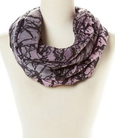 Another great find on #zulily! Gray & Black Tree Branch Infinity Scarf by Top Fashionland #zulilyfinds
