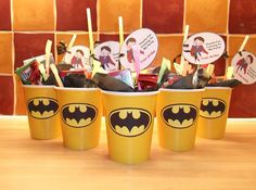 Superhero Paper Party Cups - Batman