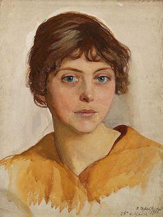 Serebriakova, Zinaida (Russian, 1884-1967) - Portrait of a Young Woman