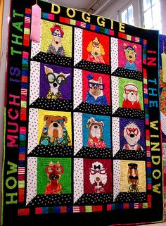 dog quilt by bunchofpants, via Flickr