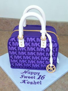 MK, cake purple purse cute !