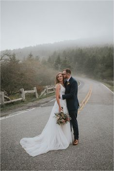 Tennessee elopement / Roan Mountain wedding / mountain bride / foggy wedding Got Married, Getting Married, Appalachian Mountains, North Carolina, Tennessee, Daughter, Clouds, Style Inspiration, Bride