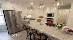 Nadine and Greg's kitchen, from Property Brothers, via LightsOnline Blog