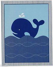 "5.5"" BLUE WHALE NAUTICAL OCEAN BABY NURSERY WALL SAFE STICKER BORDER CUT OUT"