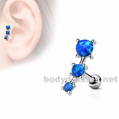 Fluffy Heart Multi-Gem Surgical Steel Freedom Fashion Tragus Earring Sold Individually