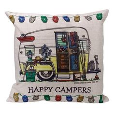 Happy Camper Pillow Covers