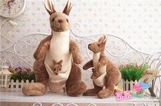 Free Shipping Genuine Kangaroo maternity record NICI plush toys, dolls parent-child interaction, children's birthday gifts 28cm