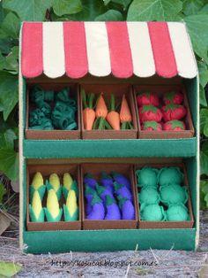 Tienda de verduras de fieltro