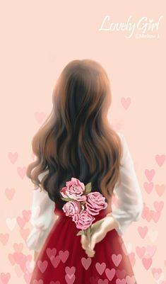 A deal with a stranger? I never thought that I would make any . cute wallpapers for girls - Handy Hintergründe - wattpad Cute Kawaii Girl, Cute Cartoon Girl, Cartoon Art, Girly Drawings, Anime Girl Drawings, Anime Art Girl, Anime Girls, Lovely Girl Image, Girls Image