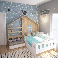 Proiecte mobilă la comandă - Portofoliu | ArtDecor House Cool Kids Bedrooms, Kids Bedroom Designs, Kids Room Design, Baby Bedroom, Bedroom Sets, Girls Bedroom, Bedroom Decor, Creative Kids Rooms, Girl Room