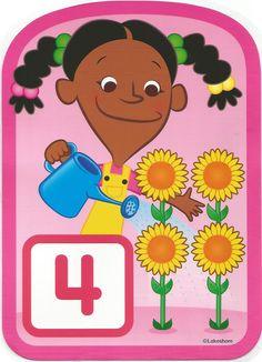 Numero 4 lámina, imagen, imprimir, preescolar, matematicas matemáticas número LAKESHORE