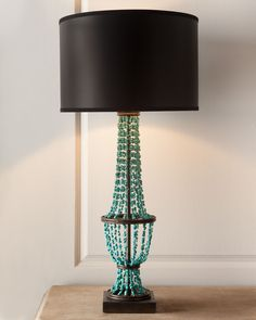Turquoise Drape Table Lamp - Horchow