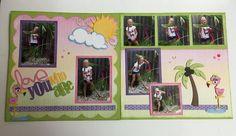 2 page layout using CTMH Kaleidoscope Paper.....